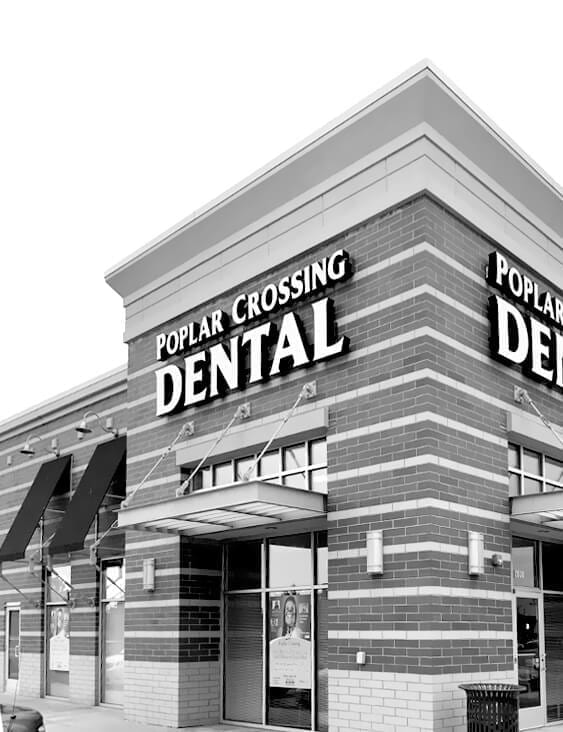 Exterior photo of Poplar Crossing Dental office