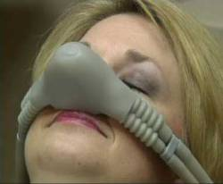 Woman Using Nitrous Oxide